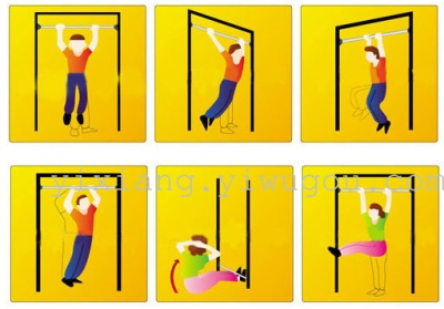 Fitness equipment on the interior door retractable horizontal bar pull-ups equipment multi-function exercise machine