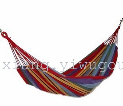 Color Rainbow canvas swing thick fabric hammocks outdoor portable camping bold interior