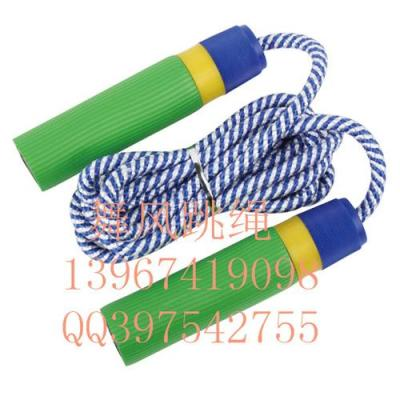 Child bearing jump rope sponge handle wooden handle count cotton rope skipping plastic rope