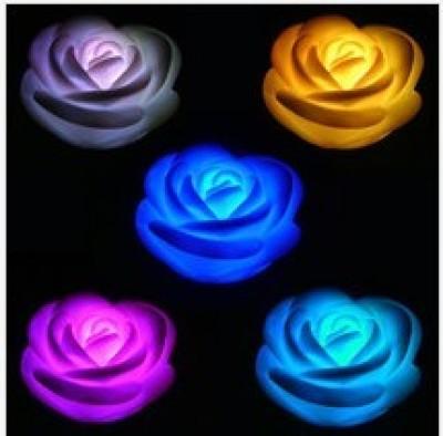 LED colorful rose night light.