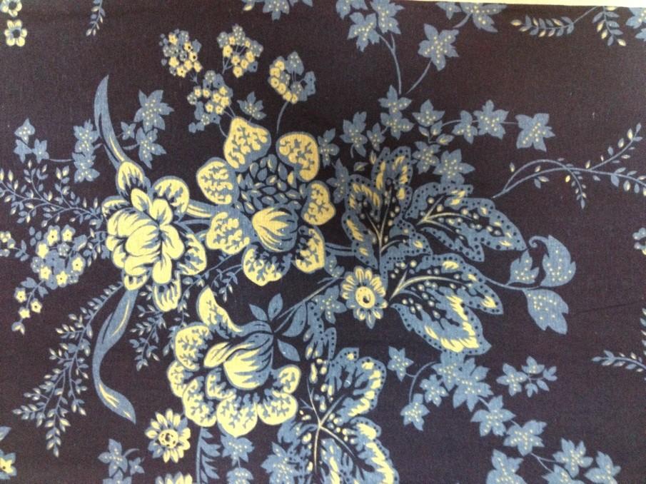 青花瓷牡丹花(仿亚麻布)