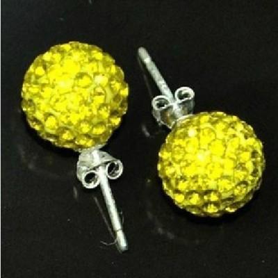 """Retail/samples"" Purple Lotus earrings Korea Korean rhinestones Stud Yiwu small foreign trade fashion earrings"
