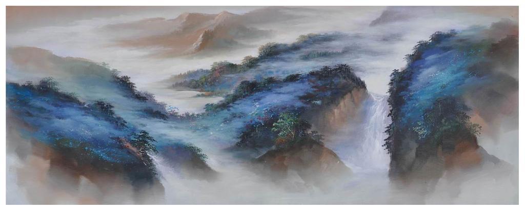 手绘油画 印象山水油画_ 广东佰福油画_ 义乌国际商贸