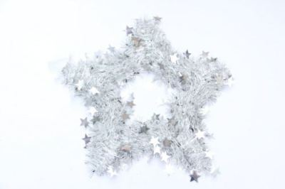 Christmas star wreath Garland multi-color sequins optional