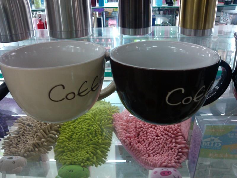 手绘coffee汤杯 陶瓷水杯咖啡杯牛奶杯创意杯子可爱杯