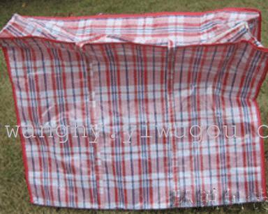 巴黎图案手提拉链塑料编织袋