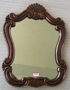 欧式浴室镜卫生间镜子方形挂壁浴室镜装饰镜欧式梳妆镜壁挂 新品