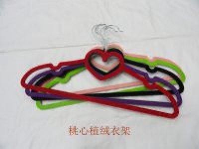 Velvet hanger double position, hearts, clouds, the bow velvet hanger color variety