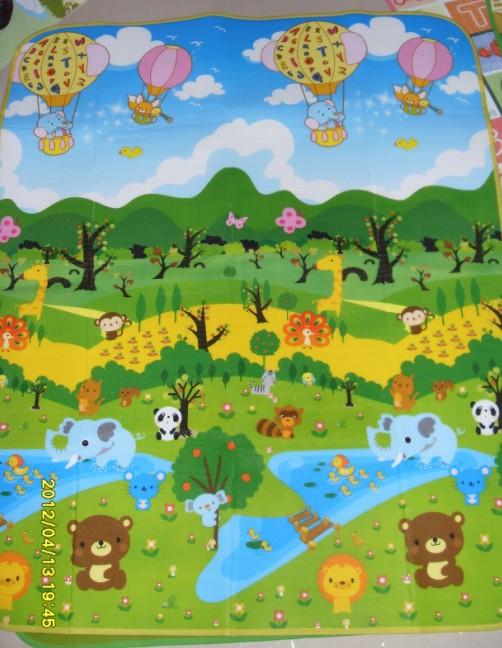 爬爬垫 地垫 动物园 卡通图案_ 云霞塑料制品_ 义乌城