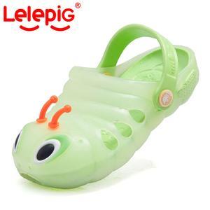 Piggy Lele children sandals, summer new style kid slippers sand holes baotou cartoon