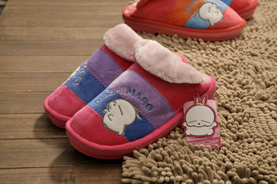 Rascal rabbit authentic 3207 3307 warm home cotton slippers cartoon couple cotton slippers chunky cotton wholesale