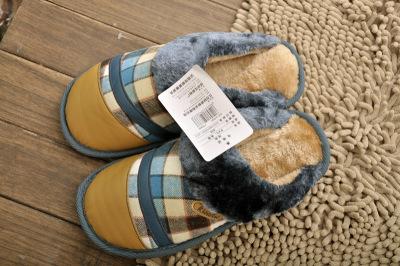 Deer 2833 men canvas cotton thick and plush cotton slippers new men's cotton wholesale