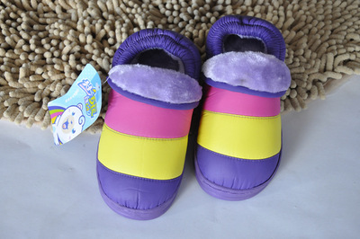 Wholesale Brigade 0054 fairy home cotton slippers child packages in cotton-padded shoes wholesale warm cotton shoes and cotton slippers