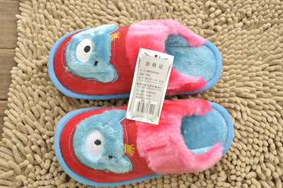 Jia Nan 13-09 children's cartoon thicken cotton cotton slippers of children in cotton slippers warm cotton wholesale