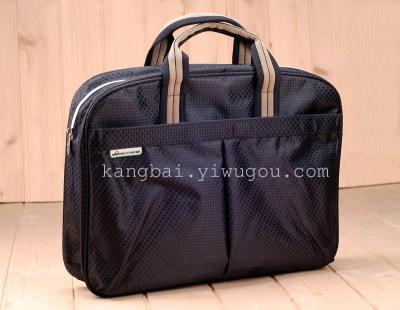 Kompak business laptop bag canvas portfolio conference bag customized 6924
