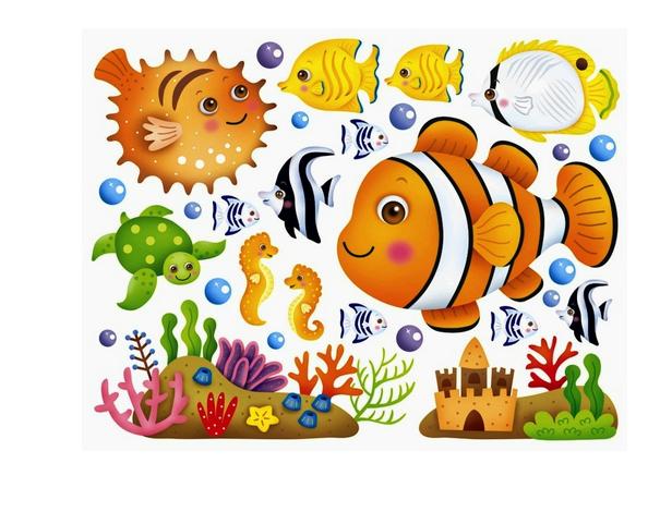 幼儿园玻璃贴 卫生间防水瓷砖贴纸 冰箱贴装饰贴 玻璃