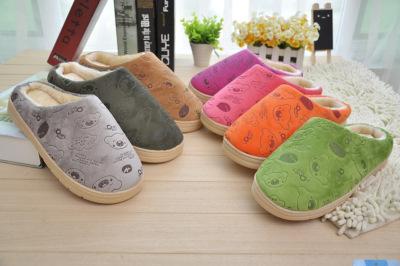 Cartoon bear winter new style cotton slippers half with warm cotton slippers thicken cotton wholesale 22117