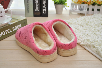 Cartoon bear winter new style cotton slippers half with warm cotton slippers thicken cotton wholesale 22117