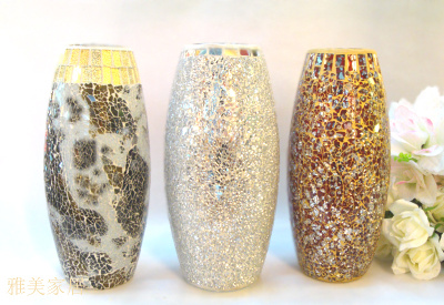 Technology for glass mosaic vase, mosaic table tops