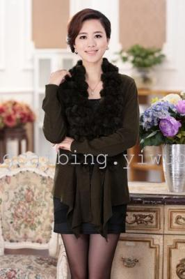 Wool sweater fashionable new casual sweater dress