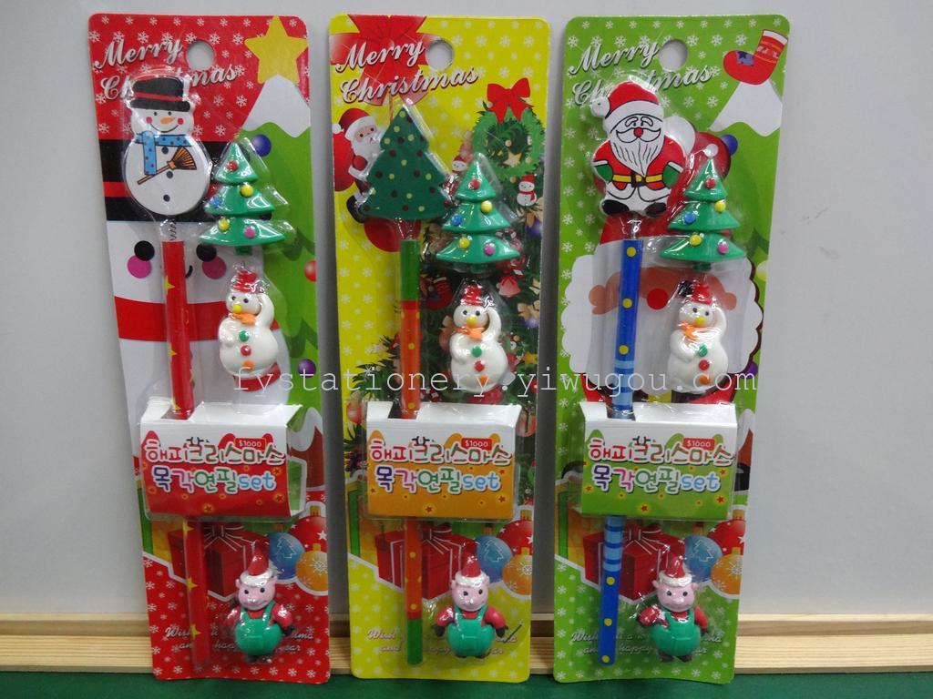 Supply Christmas Pencil Eraser Stationery Gift Sets