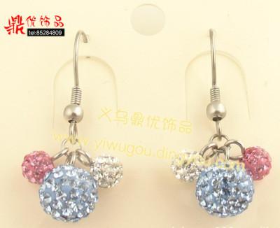 earring  nail jewelry Shambala  rhinestone gift present