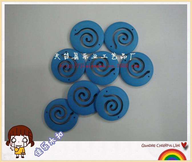 厂家生产直销环保漆彩色复古可爱羊角耳环 diy手工配饰辅料扣子