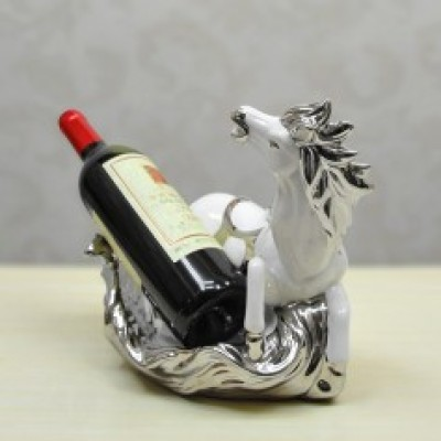 Fashion home decorative ceramic wine racks porcelain ornaments silver plated success craft soft furnishings 04166