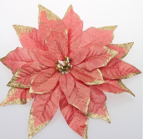圣诞装饰30cm四层高档圣诞花带金粉边圣诞树装饰品圣诞节装饰