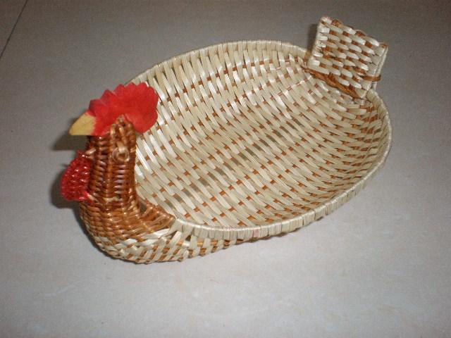 竹篮子 收纳竹篮 手工小竹篮 小果盘 果篮 竹编工艺品