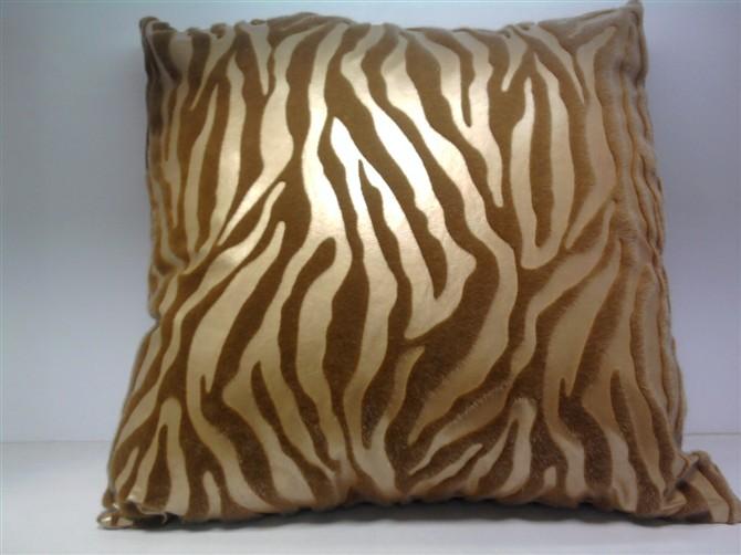 仿皮植毛欧式沙发抱枕套 床头靠枕汽车靠垫套_ 小老虎