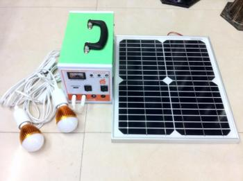 太阳能发电小系统 太阳能电池板家用照明 风扇电脑电视图片