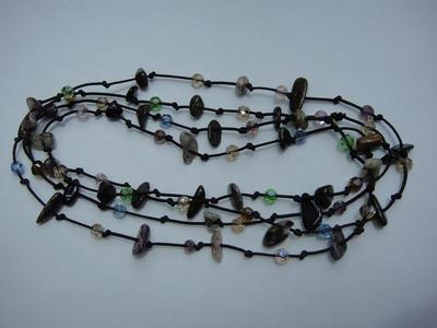 Colorful natural tourmaline knotted Necklaces Bracelets dual