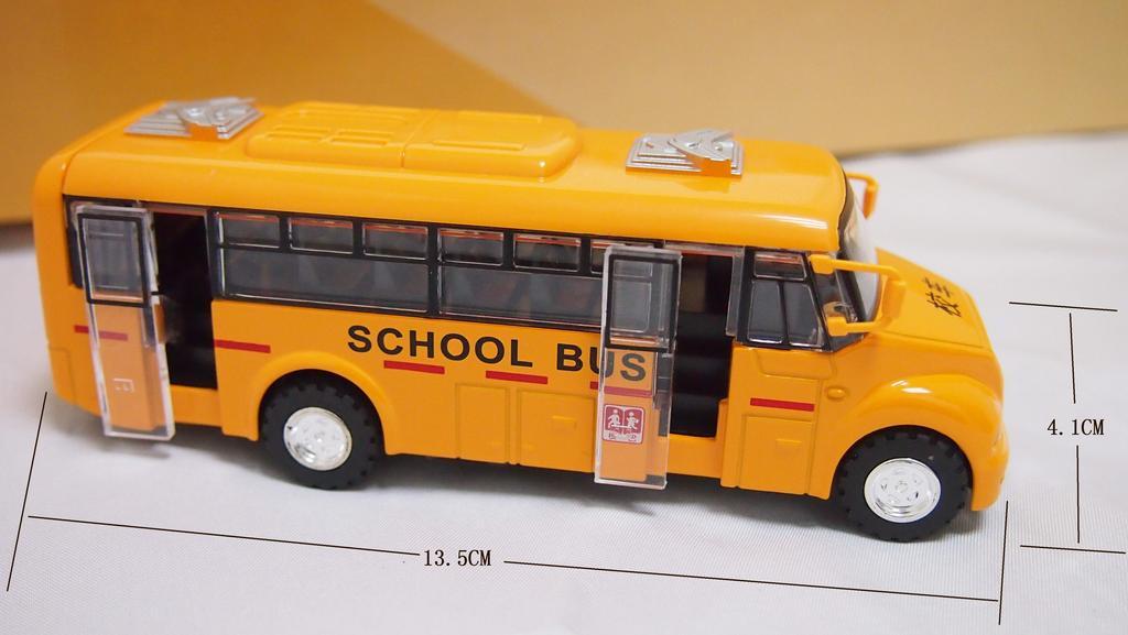 校车 幼儿园校车 合金汽车模型玩具车 校园巴士 公交