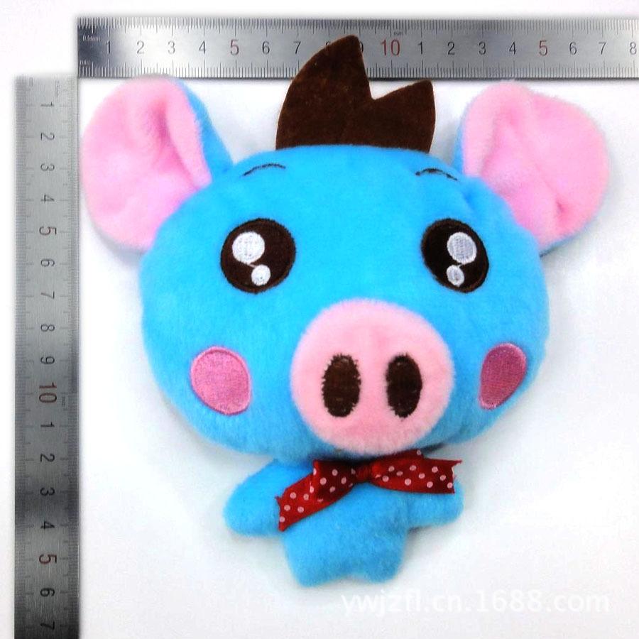 厂家直销 2014 卡通头 毛绒玩具头 粉鼻小猪猪