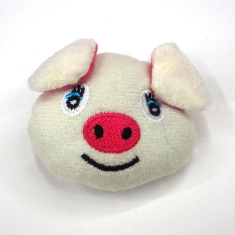 厂家直销 2017 卡通头 毛绒玩具头 可爱小猪仔