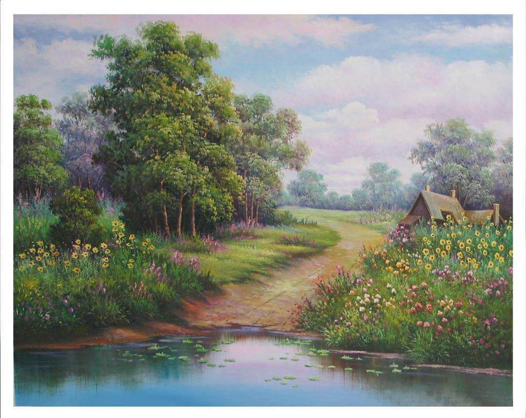 油画 装饰画 欧式画 风景画