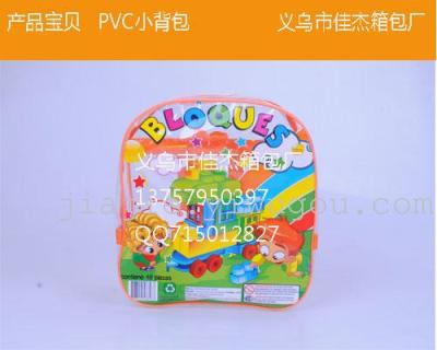 PVC printed PVC satchel backpack PVC PVC students small bag bag