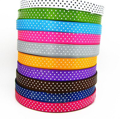 Manufacturer specials 1cm polyester with printed dot Ribbon Ribbon garment accessories DIY accessories