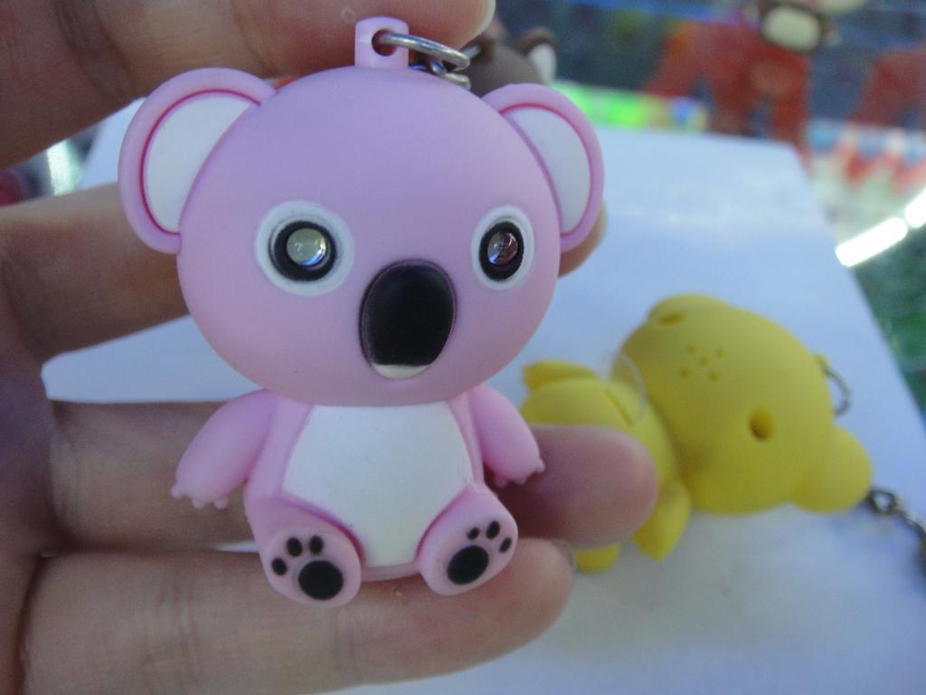 塑料带灯小挂件 考拉发声钥匙扣 可爱创意动物系列 小