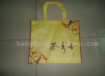 Zipper bags button print bag