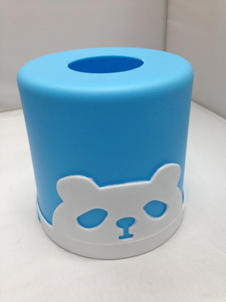小熊纸巾盒 圆筒纸巾盒 塑料纸巾盒 193-3399