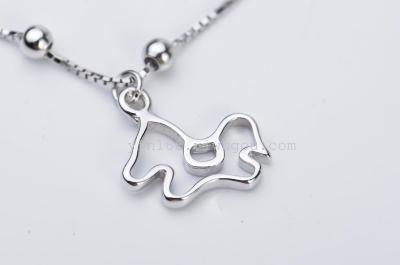 Fashion jewelry Wholesale 925 Sterling Silver little horse Anklets for beauty women jewelry GNJL0016
