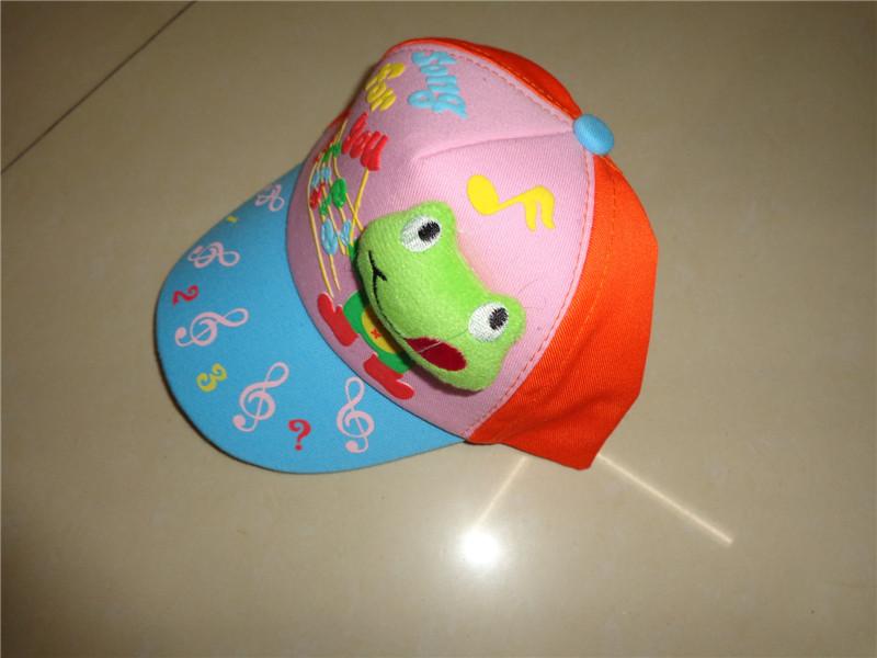 新款帽子 贴小动物 音乐符号彩色小孩棒球帽_ 英姿