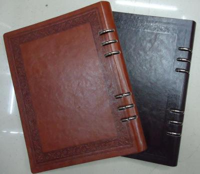Iran Middle East custom color PU leather book notebook cover loose the high quality and inexpensive.