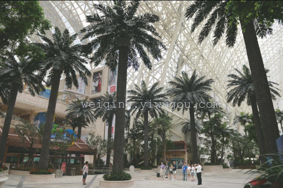 大型仿真海藻树定做室外内绿化风景热带绿植公园广场装饰批发订制