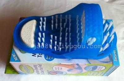 TV easyfeet bathroom slippers Exfoliating Foot slippers leather slippers