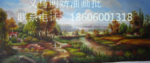 古典风景油画 纯手绘油画15611_ 明娇油画装饰画(中国