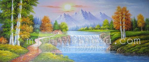 风景油画装饰画油画纯手绘油画156130_ 明娇油画装饰