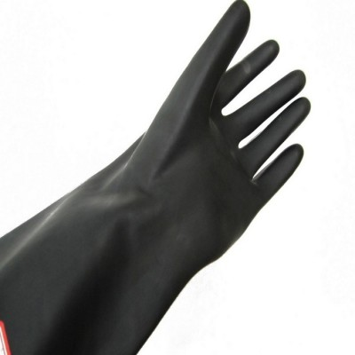 200 g black latex gloves acid industrial gloves and rubber gloves